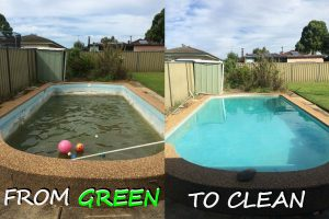 Step by step guide on how to clean a green swimming pool